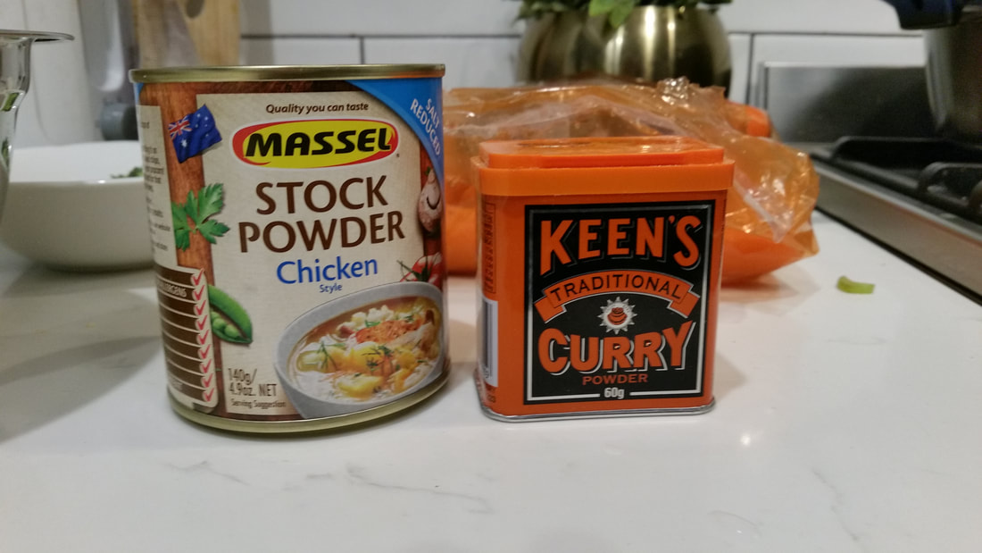 Stock powder and Curry powder