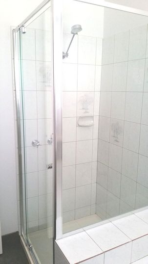 New shower screen opens up the room